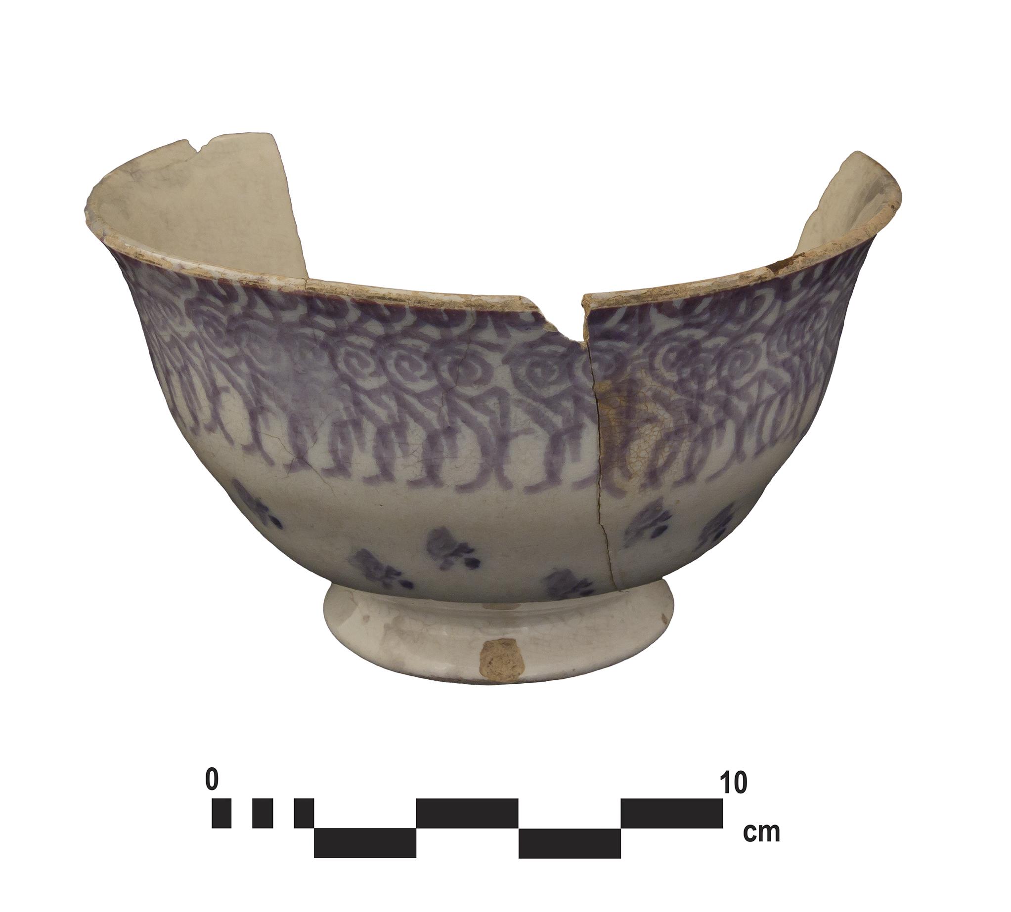Stamped teacup