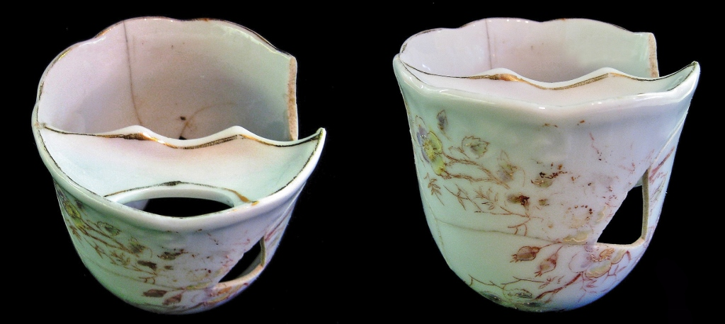 Moustache teacup from the Weir I site in Scarborough, Ontario.