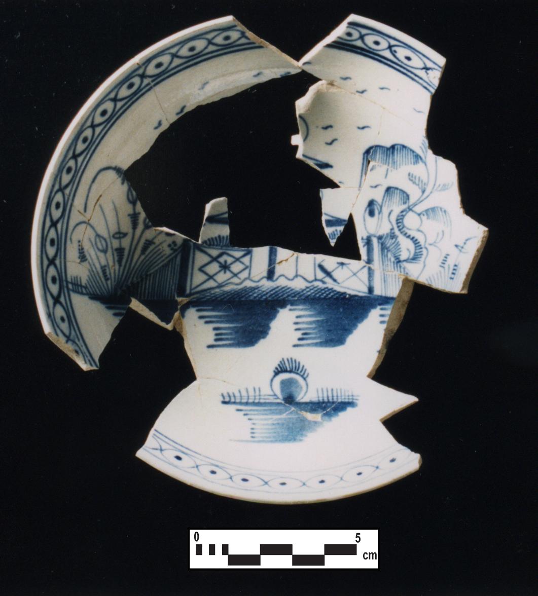 Pearlware Tea Saucer - Chinoiserie design 3
