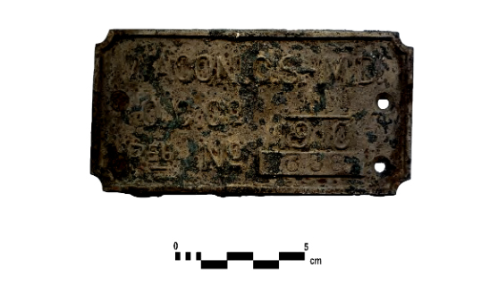 The wagon license plate from Fort York.