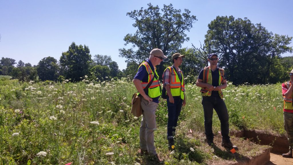 Journalist Alex Tesar visits ASI project in Brant County.
