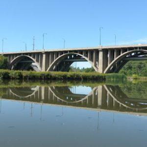 Credit River Bridge by canoe