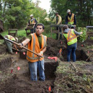 Stage 4 hand excavation