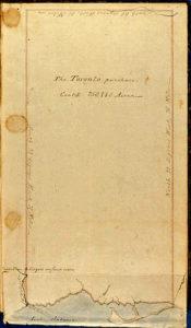 Toronto Purchase manuscript, dated 1805. Courtesy Toronto Public Library.