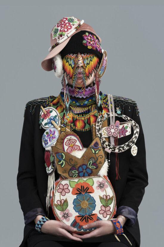 Photograph from Headdress series by Artist Dana Claxton