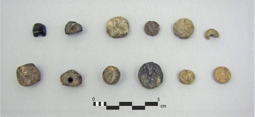 Photo plate of beads from the Hidden Spring site