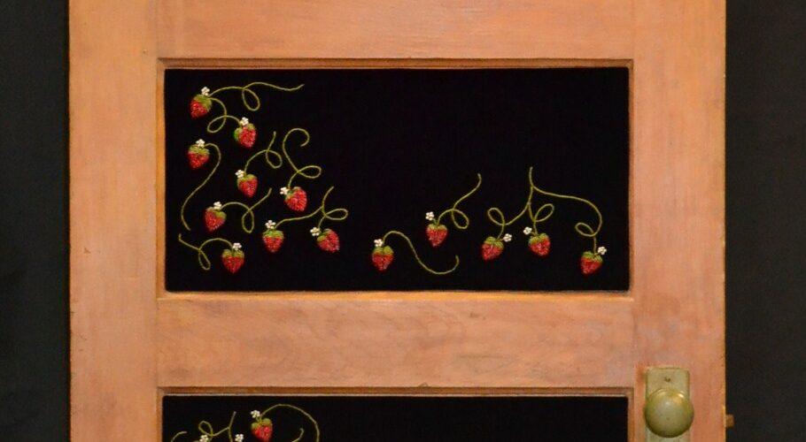 Strawberry beaded door by artist Samuel Thomas